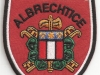 Hasičská nášivka Albrechtice
